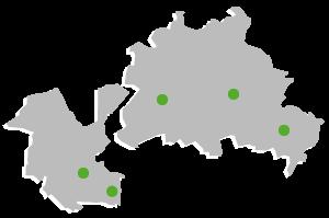 Standorte in Berlin und Potdam
