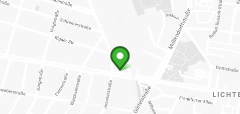 Standort Kartenansicht - Dörfer Kieferorthopädie, Frankfurter Allee 111