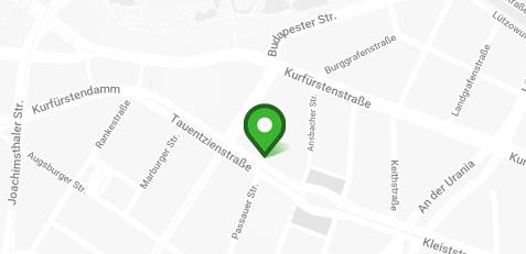 Standort Kartenansicht - Dörfer Kieferorthopädie, Tauentzienstraße 5